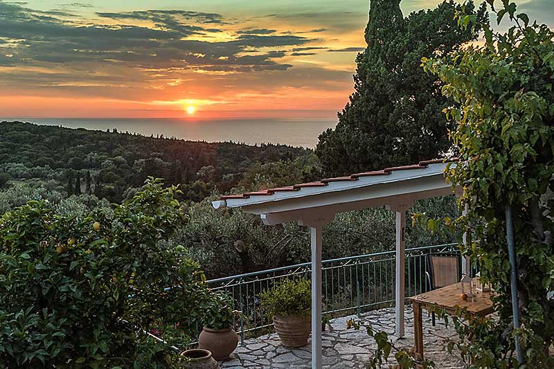Portokali CottageSunset from Terrace